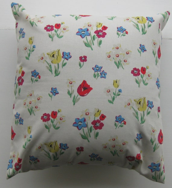 poppy cushion cover cath kidston fabric etsy. Black Bedroom Furniture Sets. Home Design Ideas