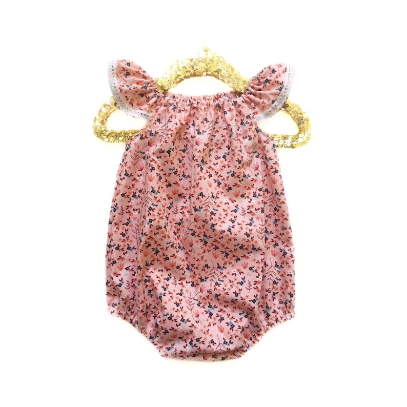 8a4e1a23e Baby Romper Girls Spring Dress Peach Romper Girls Romper | Etsy