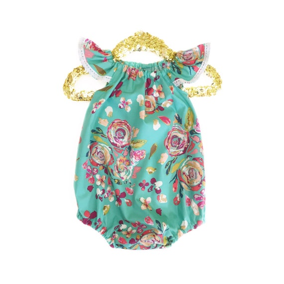 aa4cb41b99c 6-12 Months Baby Romper Spring Romper Girls Summer Clothing