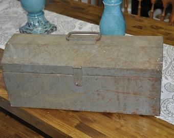 Old Heavy Steel Tool Box