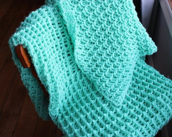 Green Knit Blanket