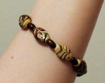 Handmade Bracelet; Natural Jewelry; Natural Bracelet; Wood Bead Bracelet; Bracelet Wood Beads; Wooden Beaded Bracelet; Fancy Bead Bracelet