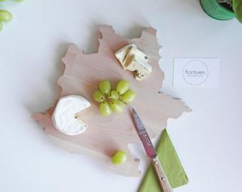 Stuttgart cutting Board, cheese board, wood, Beech, city, kitchen, gift, wedding, decoration, serving, individual, minimal, birthday