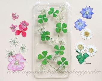 iPhone 6 Plus Case, Pressed Flower iPhone 6 Plus Case, Floral iPhone 5c Case, Clear iPhone 6 Case, iPhone 5s Case Clear, Phone Case