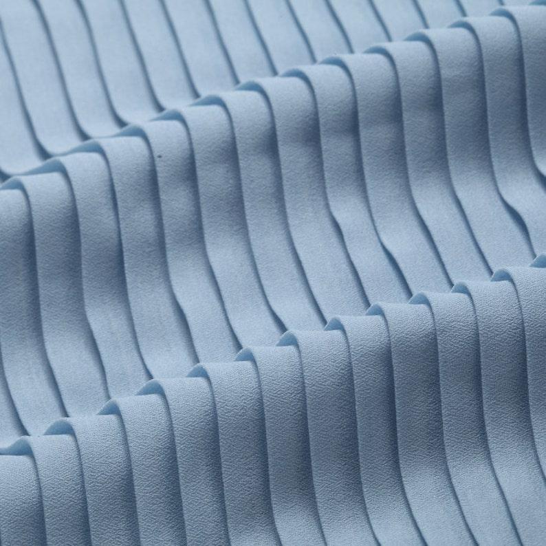 2 meters 150cm 59 width blue crumple accordion pleated chiffon fabric pearl yarn fabric wedding dress skirt materials MM80 Free Ship