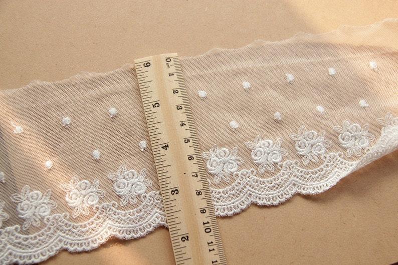 10 yard 9cm 3.54 wide ivoryblacknavy rose mesh embroidery tapes lace trim ribbon ML25L23 free ship