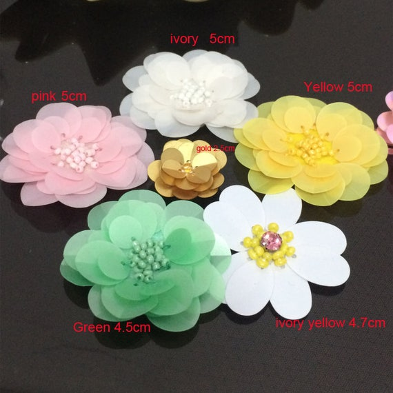 2.5-5cm wide 10-40pcs ivory yellow green gold pink sequins  8e9dc6169604