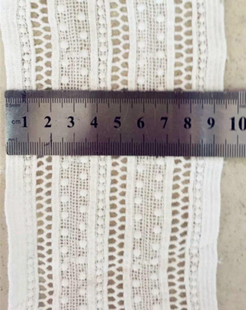 5 yard 9.5cm 3.74 wide ivory black cotton fabric embroidery lace trim ribbon 1110354DL4K783 free ship