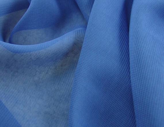 Tende In Tessuto Georgette : Blusa di 3 metri 150cm 59 larghezza blu garza georgette etsy