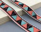 10 yard 2cm 0.78 quot wide triangle diamond Jacquard patterned flat rope lace trim ribbon ML187P768