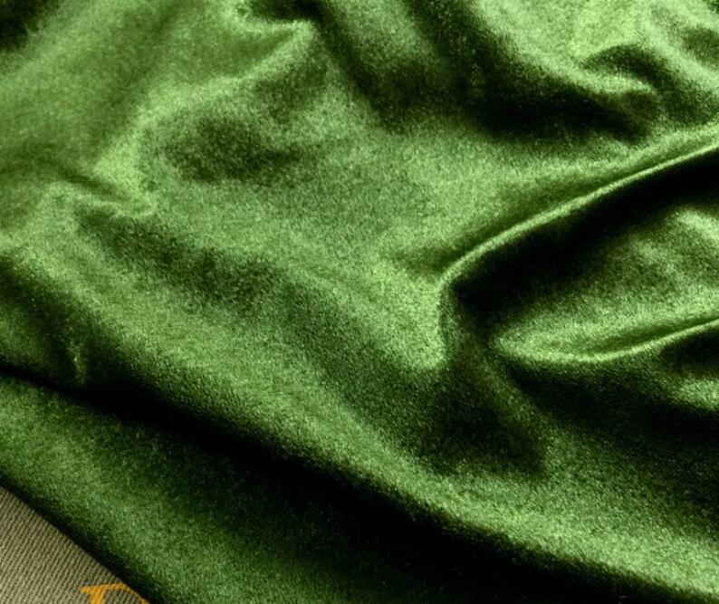 1 meter 150cm 59.05 width green elastic stretch soft flash pleuche fabric curtain sportswear material MM7 free ship