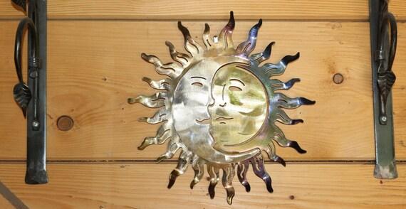 10 X 10 En Fer Forgé Soleil Et Lune Sculpture Etsy