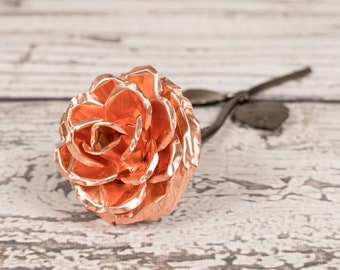 Copper Rose - 7th Anniversary Personalized Wedding Gift