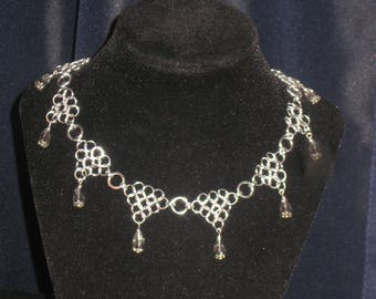 Chainmail and Swarovski Crystal Necklace