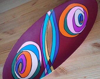 """Bowl oval - 45 cm, decorative, colorful, series """"homepART"""" - No. 12 - Design by Petra Kolossa"""