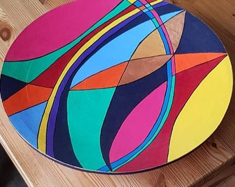 """Bowl 48 cm round, modern style, decorative, color-intensive - Series """"homepART"""" No. 13 - Design by Petra Kolossa"""