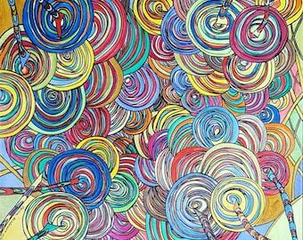 Bundling energies - image - abstract - modern art