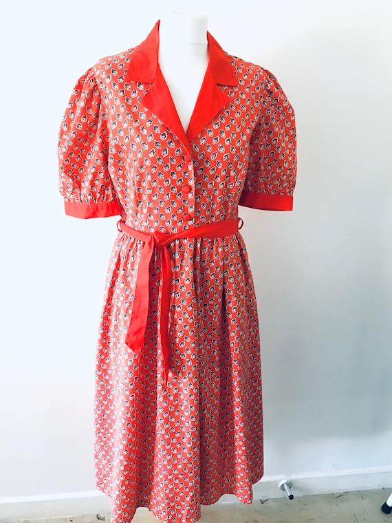 Marion Donaldson vintage 1980s red patterned short