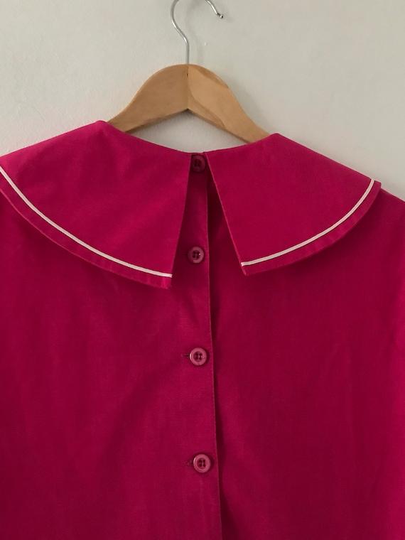 Laura Ashley vintage 80s pink sailor dress linen … - image 8