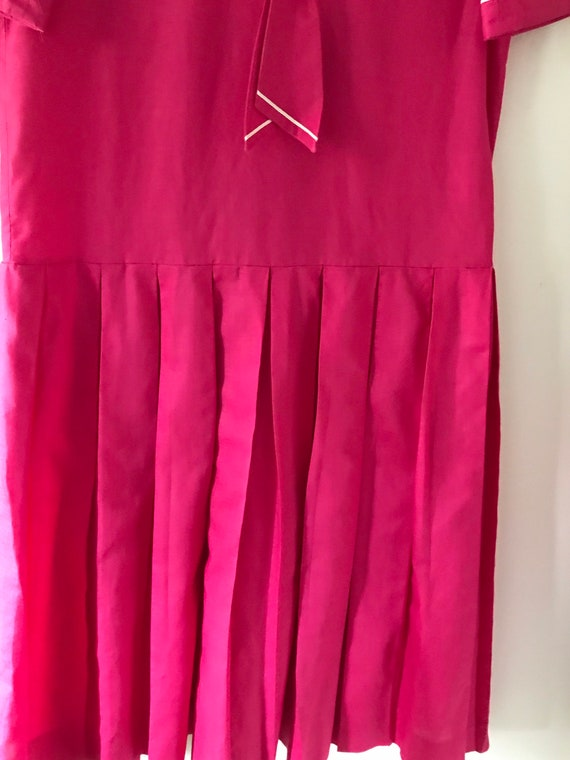 Laura Ashley vintage 80s pink sailor dress linen … - image 10