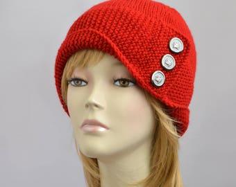 Hat Knitting Pattern // Robin Hood Hat Pattern Womens Hat Pattern Mütze Stricken Anleitung Womens Accessories Winter Robin Hat Pattern