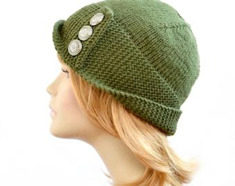 Hat Knitting Pattern // Robin Hood Hat Pattern, Womens Robin Hood Hat Pattern, Womens Accessories, Winter Robin Hat Pattern, PDF