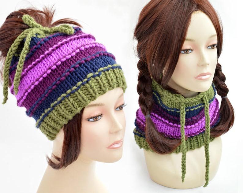 b13f30b498b Ponytail Hat Scarf Ponytail Beanie Womens Hat Transformer Hat