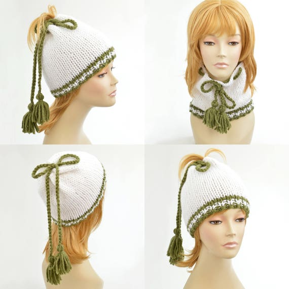 f7384f6ea72 Ponytail Hat Scarf Ponytail Beanie Transformer Hat Hole