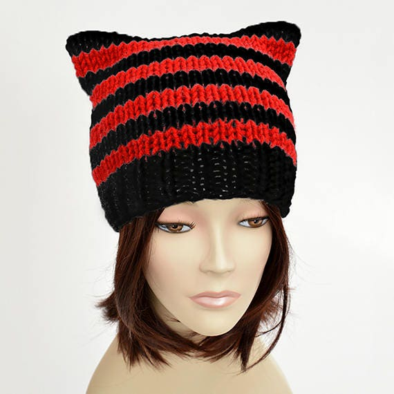 Queen Of Hearts Hat Pattern Cat Hat Knitting Pattern Cat Etsy