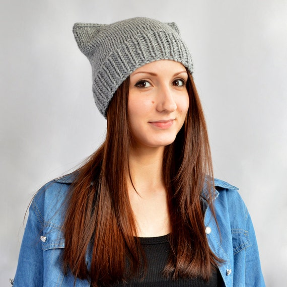 Knit Hat Pattern    Cat Hat Knitting Pattern Cat Ears Cat  9bfb2ebd5d25