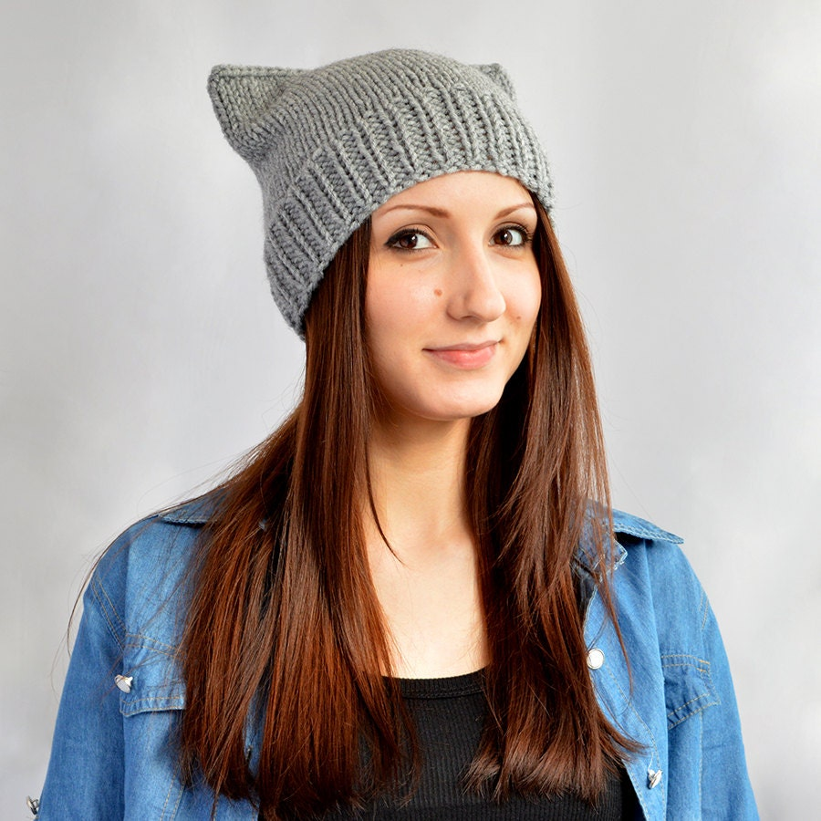 Cat Ear Hat Knitting Pattern Simple Decorating