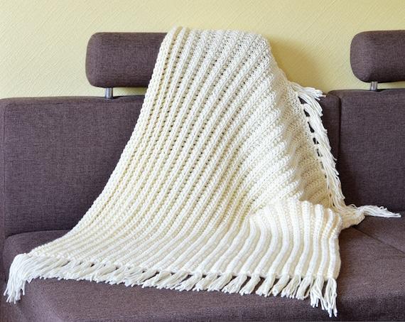 Knit Throw Blanket Pattern Pdf Winter Blanket Pattern Etsy