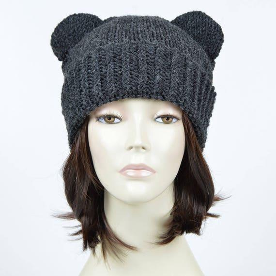 Bear Hat Pattern // Bear Beanie Pattern Bear Ear Beanie Knit | Etsy