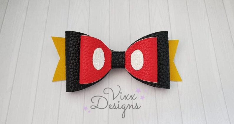 Red Leather Bow Hair Clip Red Faux Leather Bow Hair Clip Red Bow Hair Clip Red Bow Headband Glitter Bow Headband