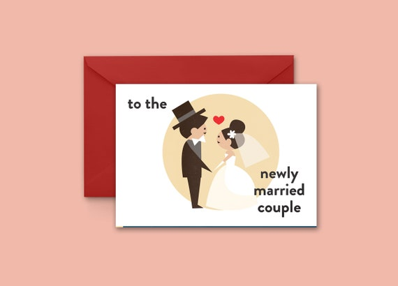 To the newly married couple greeting card m4hsunfo
