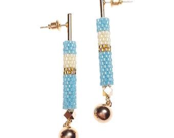 Baby Blue - Lavish Drop Earrings