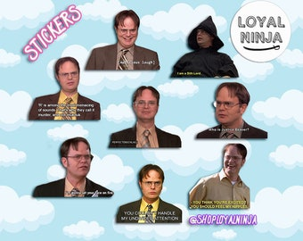 tumblr the office scene the office tv show dwight schrute quotes sticker set gift tumblr stickers fridge magnet ct 15 etsy