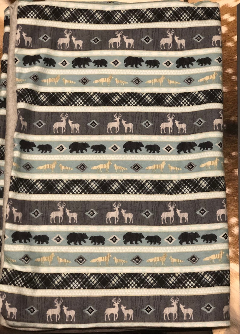 Woodland baby blanket