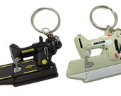 singer featherweight 221 sewing machine keychain charm