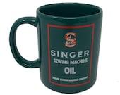 Singer Sewing Machine Oil Coffee Tea Mug