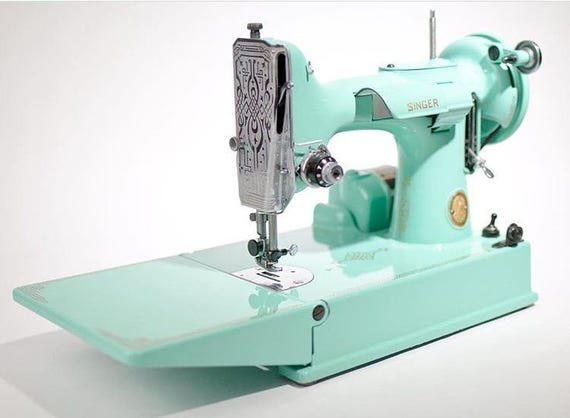 Singer 40 Featherweight Sewing Machine Custom Painted Basic Etsy Gorgeous Singer Sewing Machines Malta