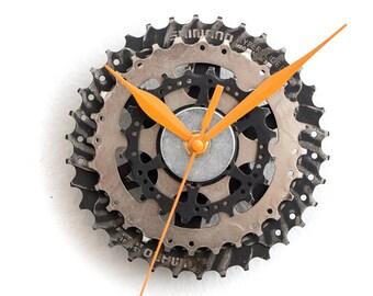 Modern Wall Clock, Industrial Wall Clock, Steampunk Wall Clock, Bicycle Wall Clock, Bike Wall Clock, Unique Wall Clock, Steampunk Gift