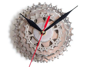 Bicycle Wall Clock, Bicycle Sprocket Clock, Bike Clock, Unique Wall Clock, Steampunk Wall Clock, Metal Wall Clock, Cyclist Wall Clock