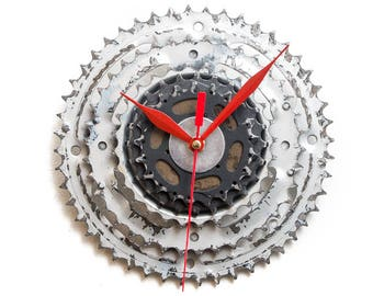 Large Bicycle  Clock, Modern Wall Clock, Bicycle Wall Clock, Bike Sprocket Clock, Steampunk Wall Clock, Industrial Clock, Bike Wall Clock