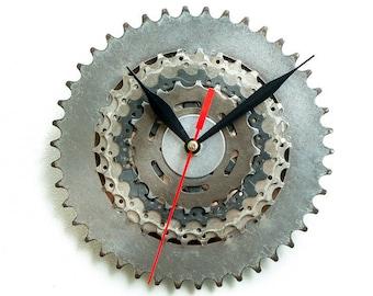 Unique Bike Wall Clock, Industrial Wall Clock, Steampunk Wall Clock, Unique Wall Clock, Large Wall Clock, Bicycle Clock, Industrial Decor