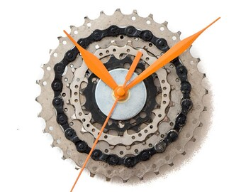 Bike Wall Clock - Industrial Clock - Modern Wall Clock - Unique Wall Clock  Husband Gift - Boyfriend Gift - Housewarming Gift - Cyclist Gift