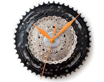 Boyfriend Gift, Bike Wall Clock, Husband Gift, Cyclist Gift, Dad Gift, Small Wall Clock, Large Wall Clock, Unique Wall Clock, Metal Clock