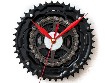 Large Bicycle  Clock - Modern Wall Clock - Bicycle Wall Clock - Bike Sprocket Clock - Unique Wall Clock - Industrial Clock - Bike Wall Clock