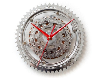Bicycle Wall Clock - Bicycle Sprocket Clock - Bike Clock - Unique Wall Clock - Boyfriend Gift - Husband Gift - Cyclist Gift - Father Gift