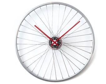 Bicycle Wheel Clock, Oversized Wall Clock, Unusual Wall Clock, Large Wall Clock, Bicycle Clock, Unique Wall Clock, Industrial Wall Clock